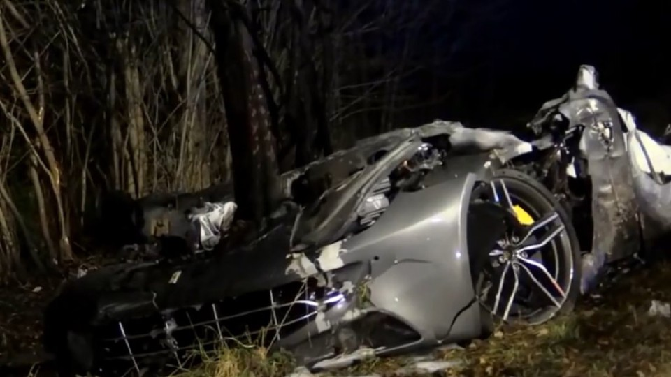 Nehoda Ferrari FF