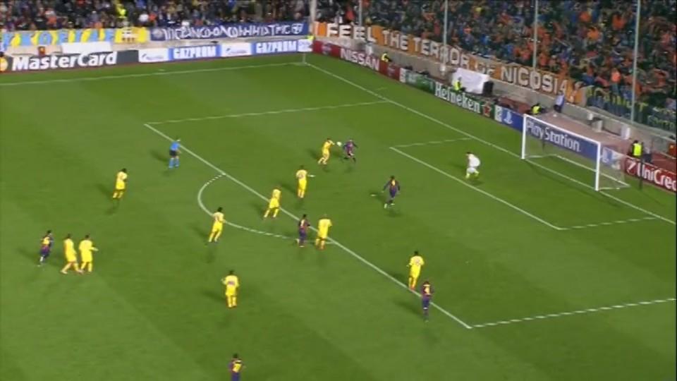 Sestřih zápasu - APOEL v Barcelona (25.11.2014)