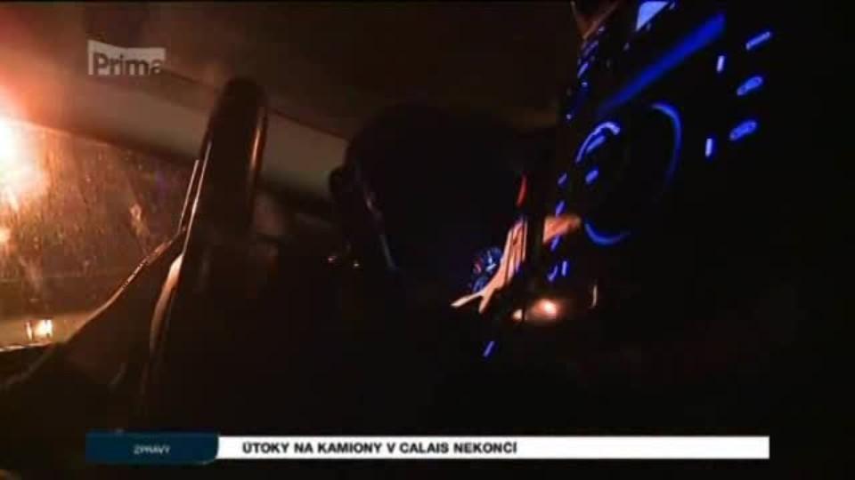 Útoky na kamiony v Calais nekončí