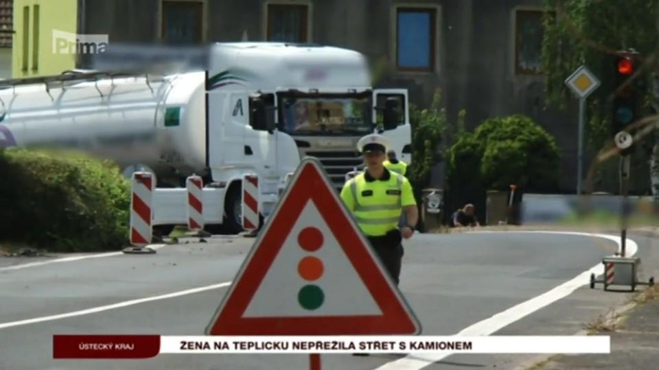 10. 8. 2017 KRIMI: Žena na Teplicku nepřežila střet s kamionem