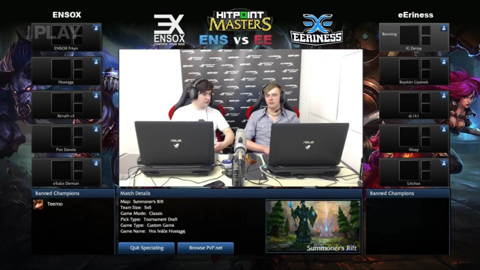 LoL - Hitpoint Masters: eEriness vs ENSOX, 1.kolo