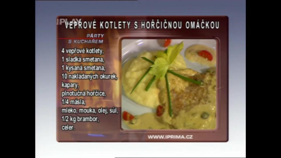 Vepřové kotlety v hořčicové omáčce s celerovou kaší