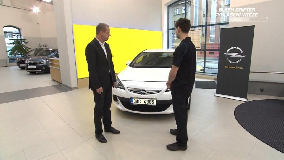 Vyhlášení vítěze soutěže Opel Astra OPC