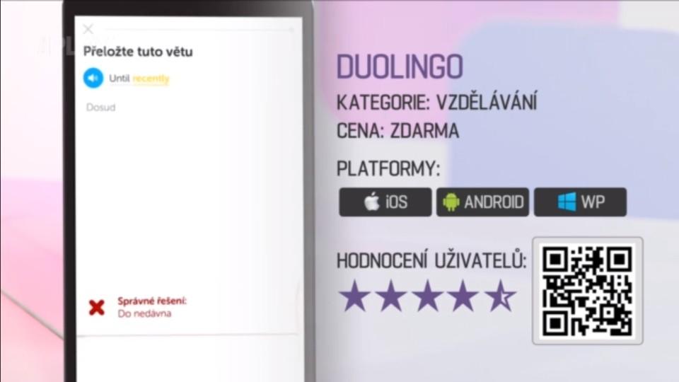 Prima Rádce - Aplikace na učení cizích jazyků