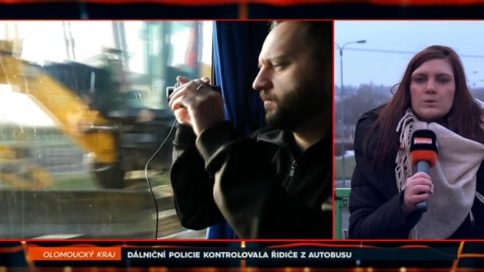 3. 12. 2017 ZPRÁVY: DÁLNIČNÍ POLICIE KONTROLOVALA ŘIDIČE Z AUTOBUSU