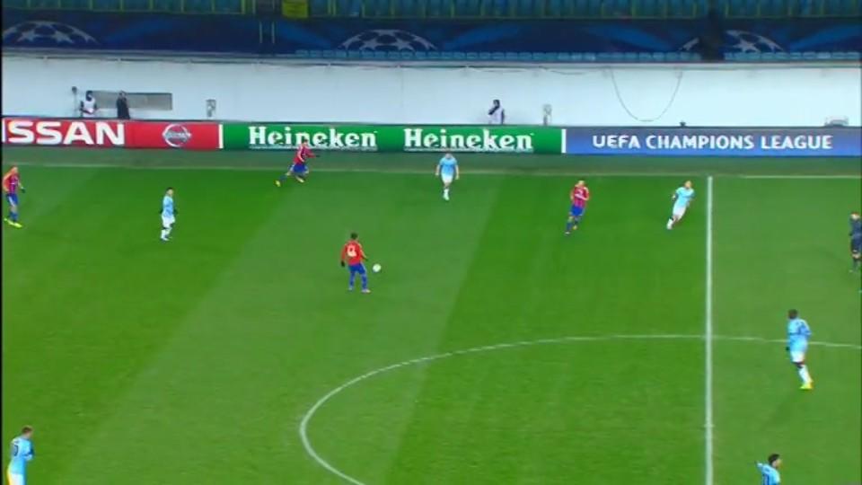 Sestřih zápasu - CSKA Moskva v Man. City (21.10.2014)