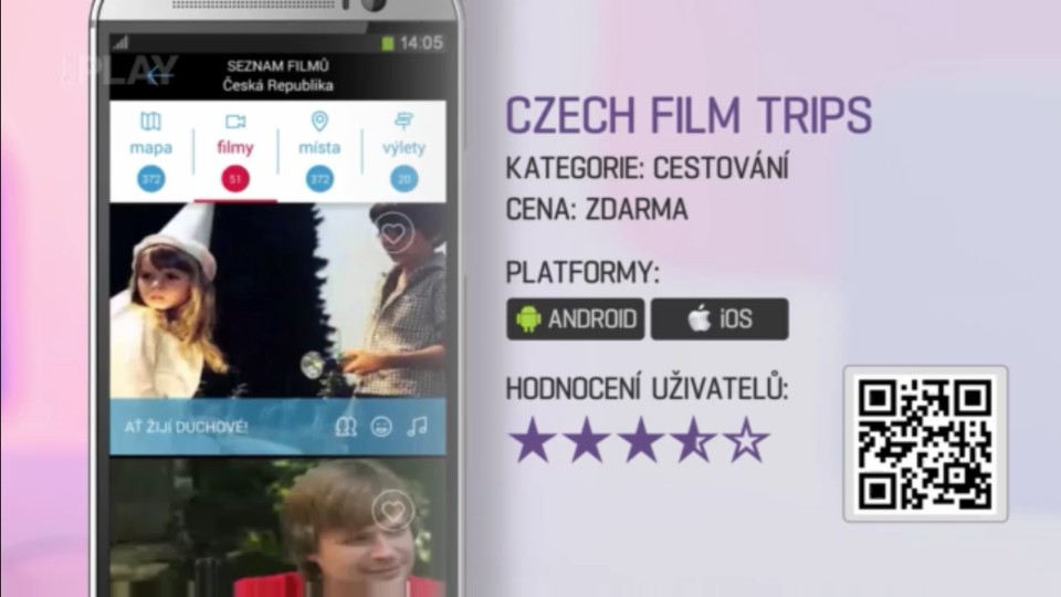 Prima Rádce - Aplikace Czech film trips
