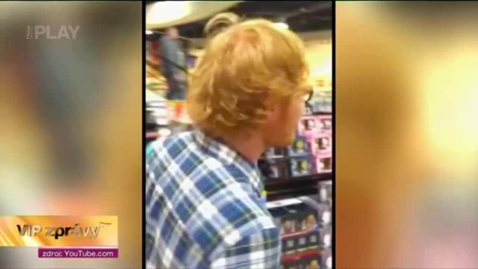 VIP - Ed Sheeran v obchodáku
