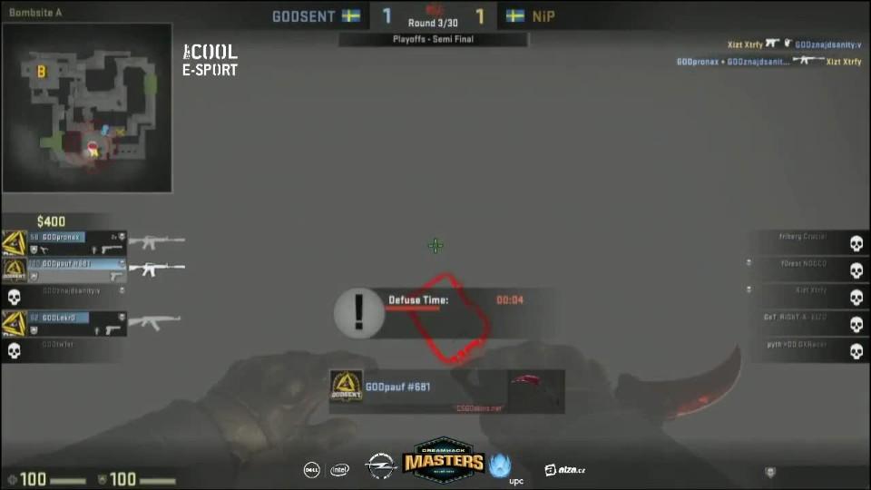 DH Masters: SF - NiP vs GODSENT - 3. mapa