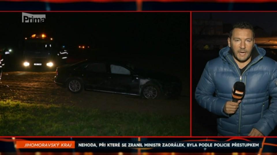 1. 12. 2017 ZPRÁVY:  NEHODA, PŘI KTERÉ SE ZRANIL MINISTR ZAORÁLEK, BYLA PODLE POLICIE PŘESTUPKEM