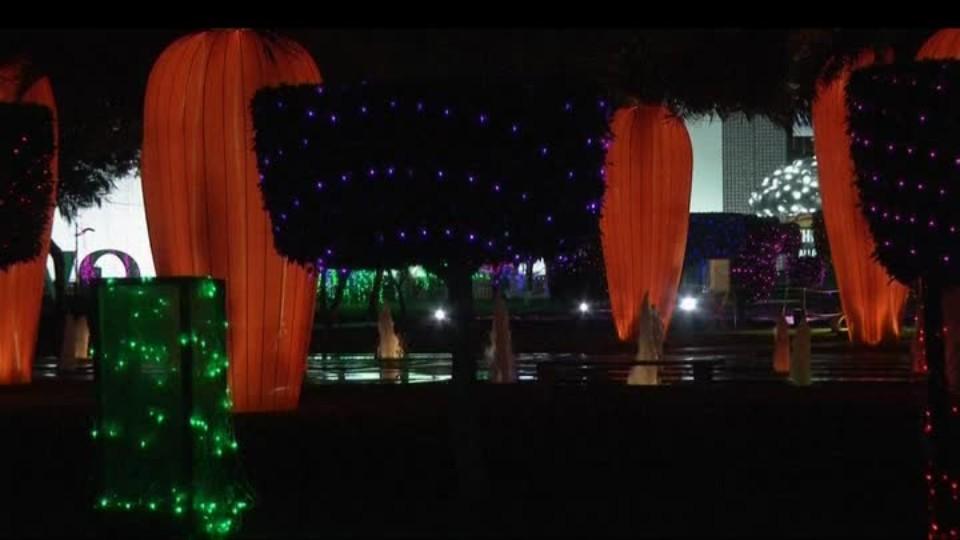 SVĚT: Světelná zahrada v Dubaji
