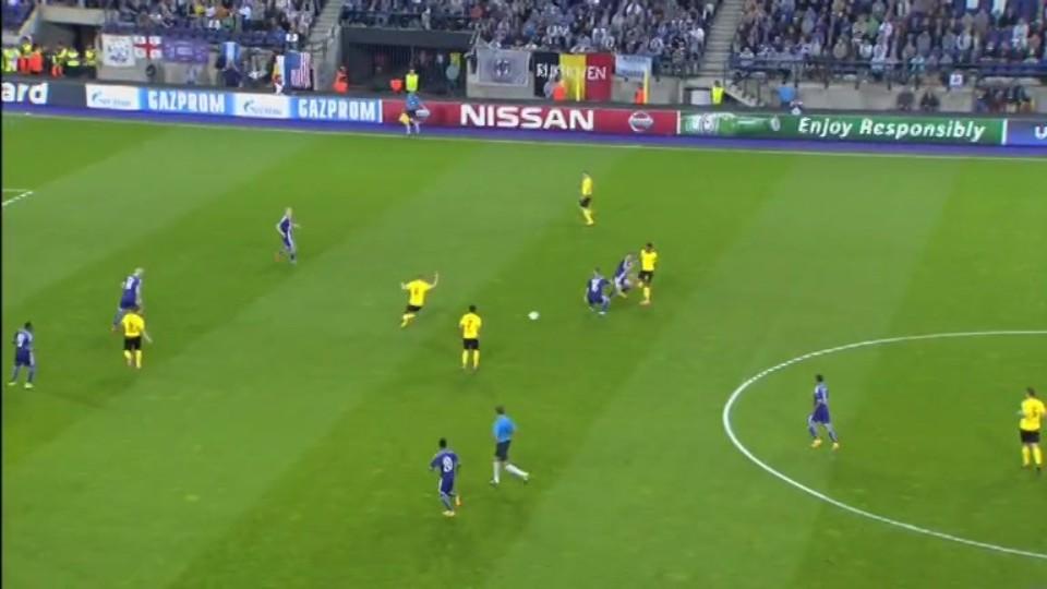 Sestřih zápasu - Anderlecht v Dortmund (1.10.2014)
