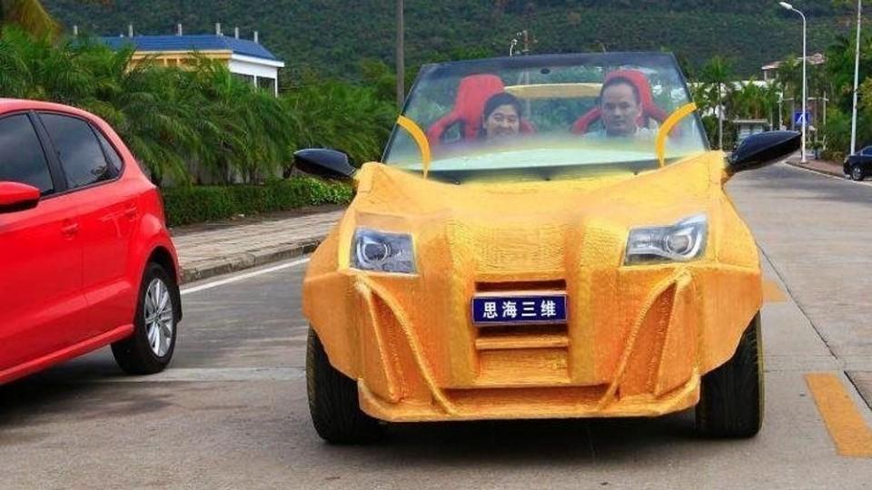 Vytištěné čínské auto