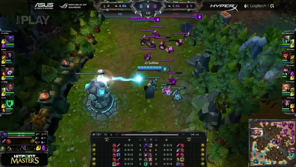 LoL - Hitpoint Masters: Inside Games vs Iron Team Gaming, 1.kolo