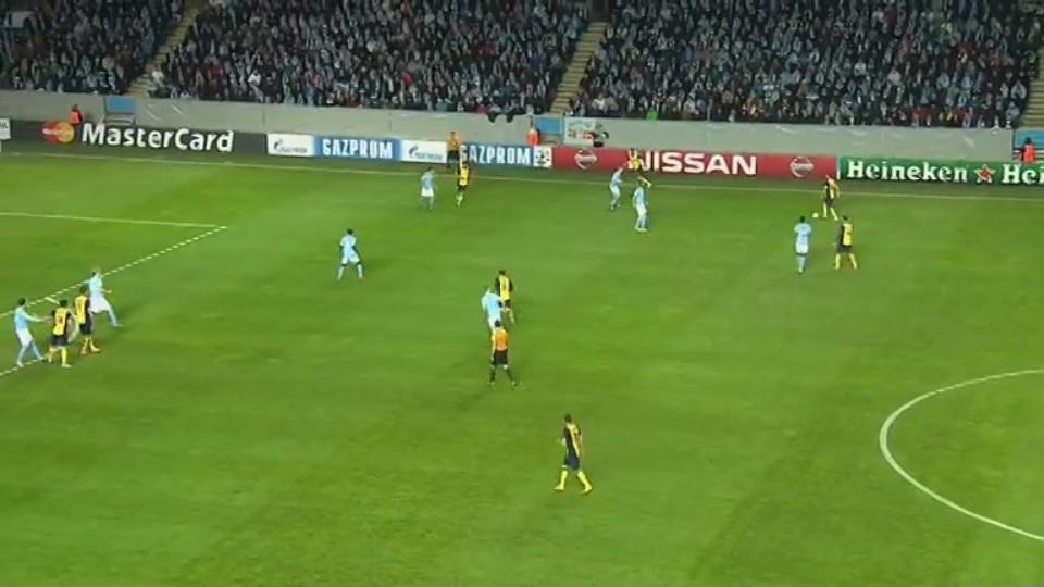 Sestřih zápasu - Malmo v Atletico (4.11.2014)