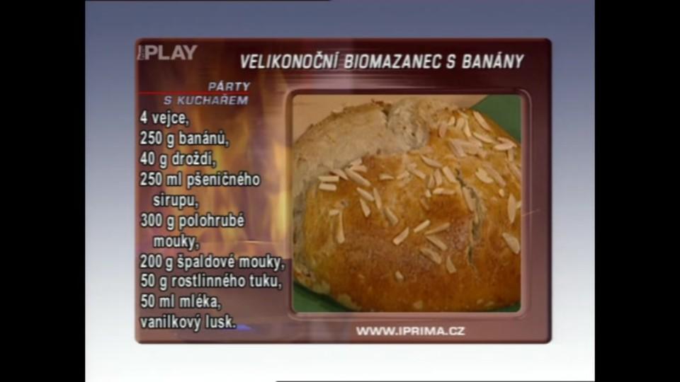 Velikonoční biomazanec s banány