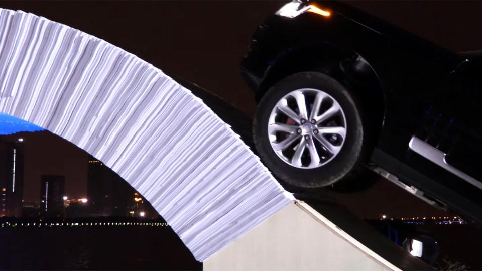 Funkční most z papíru