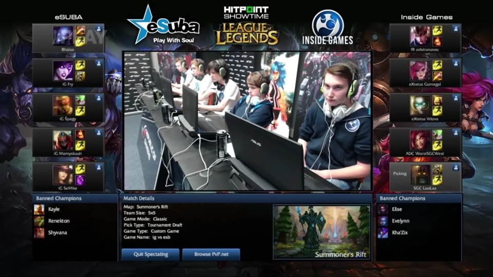 LoL - Hitpoint Showtime: eSuba vs Inside Games, 2.mapa
