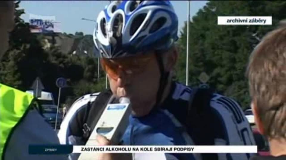 Zastánci alkoholu na kole sbírají podpisy