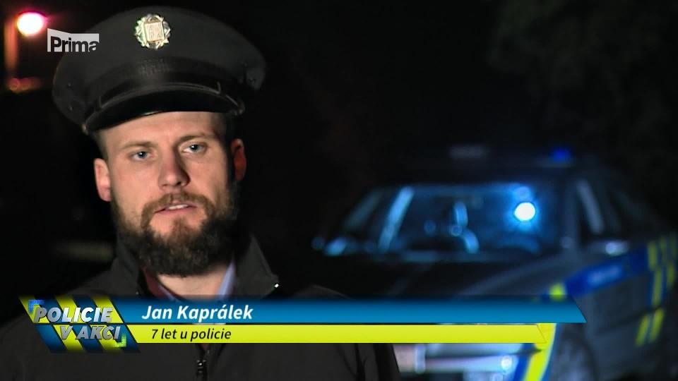 Lapený v garáži -Policie v akci