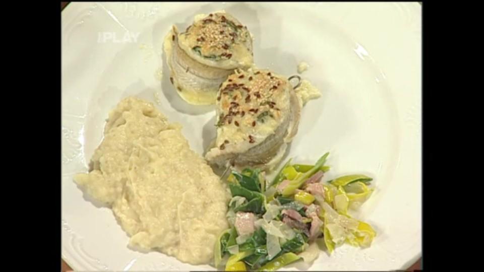 Závitky z rybího filé s bylinkami