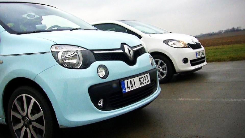 Renault Twingo 1,0 SCe intens vs Škoda Citigo 5D 1,0 MPI/55 kW Elegance