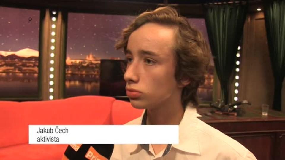 Mladý aktivista Jakub Čech v SJK