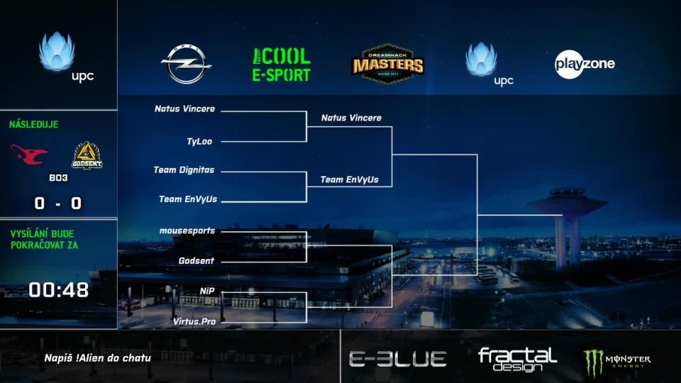 DH Masters: ČT - mousesports vs GODSENT