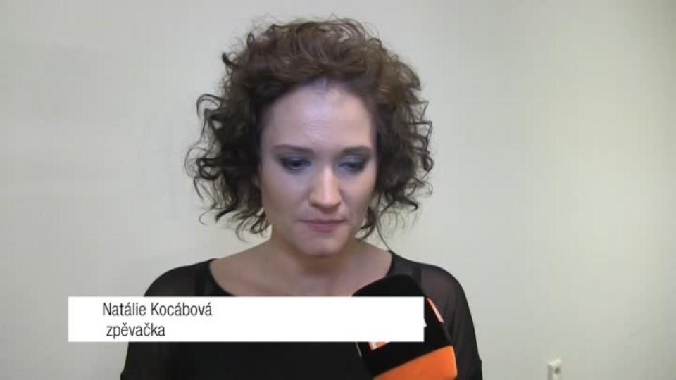 Zpěvačka Natálie Kocábová v SJK