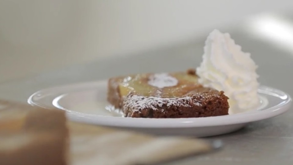 Markéty Kitchenette - Obrácený hruškový koláč