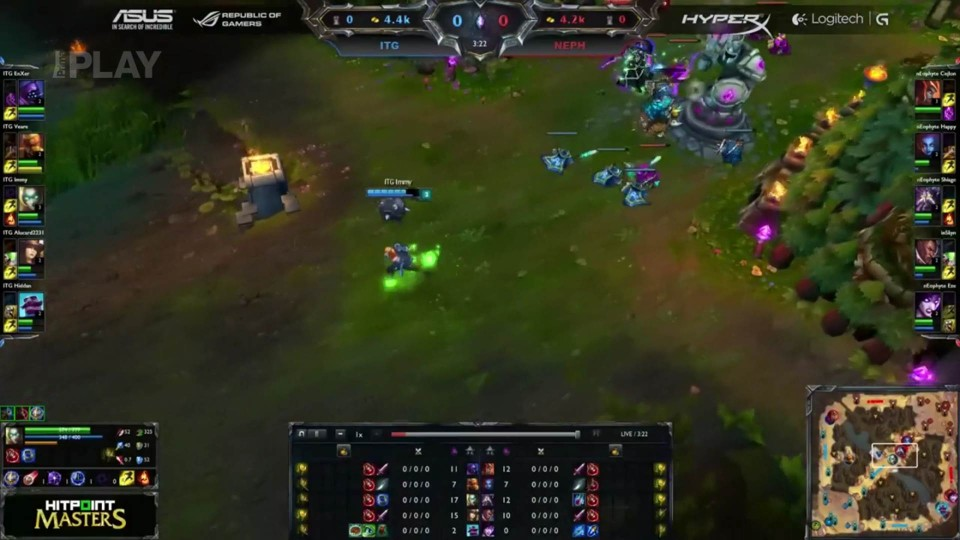 LoL - Hitpoint Masters: Iron Team Gaming vs nEophyte, 10.kolo