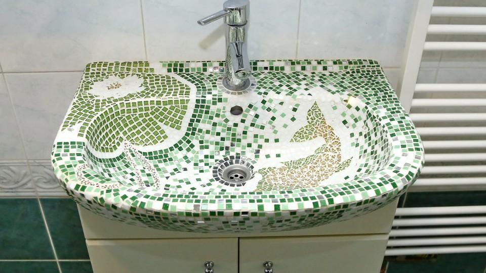 Mozaika na umyvadle