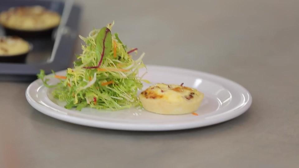 Slaný dezert - Quiche - zálivka Vinaigrette