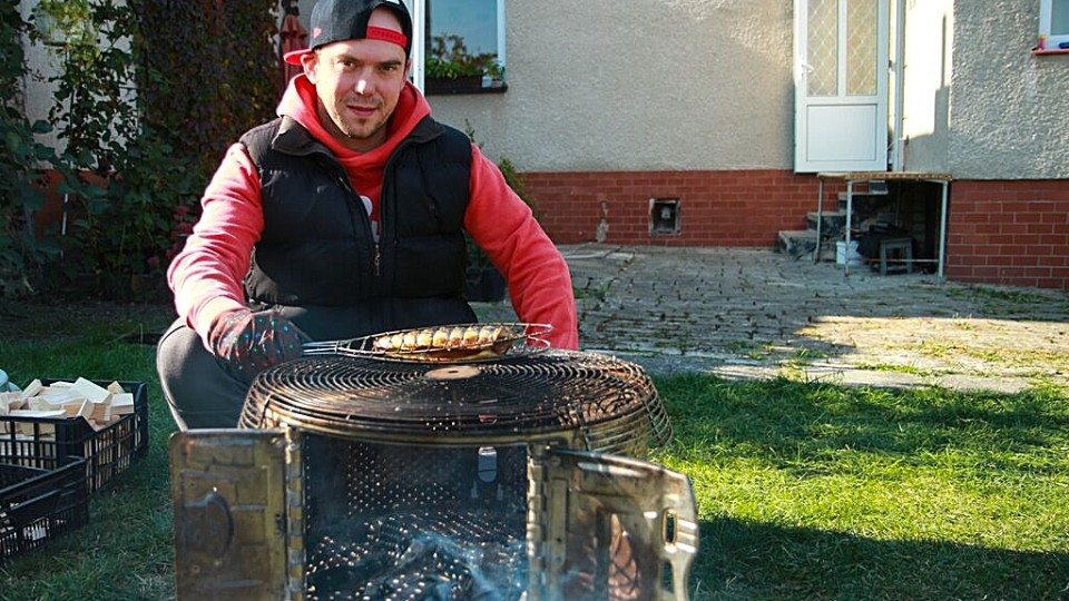 Vychytávky Ládi Hrušky - Gril z bubnu pračky