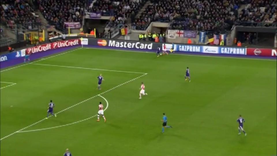Sestřih zápasu - Anderlecht v Arsenal (22.10.2014)