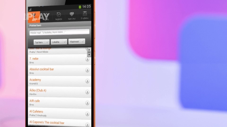 Prima Rádce - Aplikace na bary ve vašem okolí
