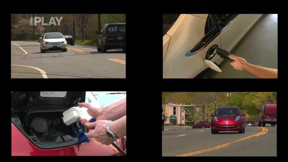 Chevrolet Volt a Nissan Leaf Crash Testy