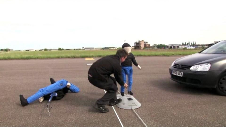 Test - automatické brzdění s detekcí chodců