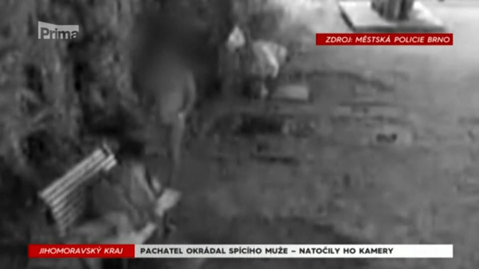 10. 9. 2017 KRIMI: PACHATEL OKRÁDAL SPÍCÍHO MUŽE - NATOČILY HO KAMERY
