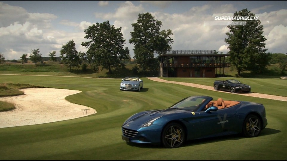 Superkabriolety (Aston Martin V12 Vantage Roadster, Bentley Continental GTC, Ferrari California T)