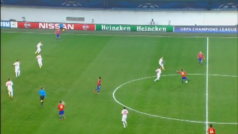 Sestřih zápasu - CSKA Moskva v Roma (25.11.2014)