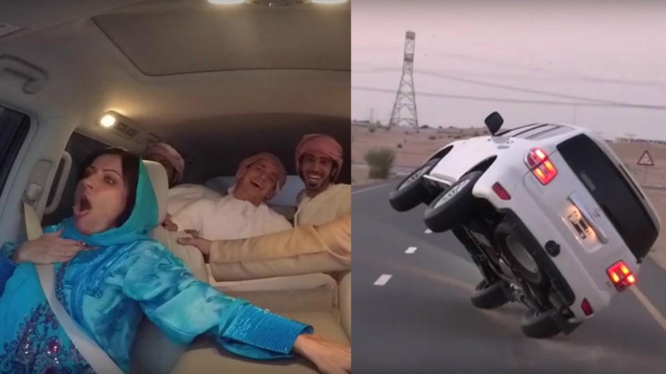 Děsivá jízda po dvou kolech vpoušti