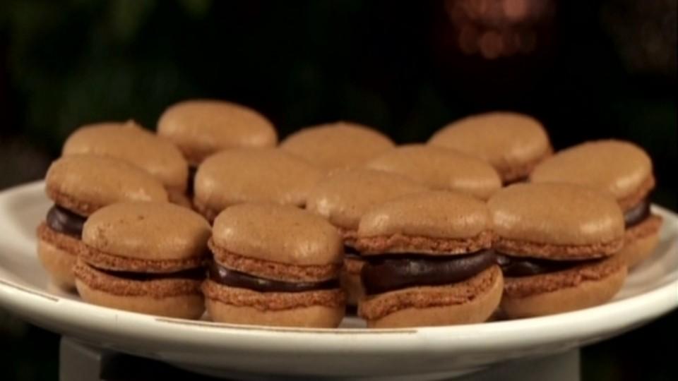 Vánoční pečení (3) - Čokoládové makronky