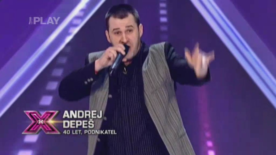 X Factor (6) - nejlepší vystoupení - Andrej Depeš