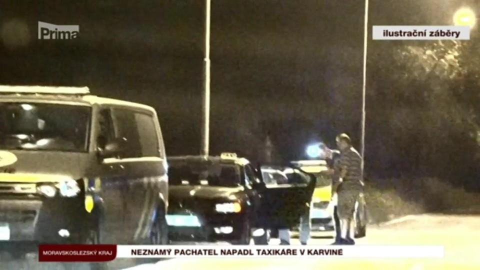 10. 8. 2017 KRIMI: Neznámý pachatel napadl taxikáře v Karviné