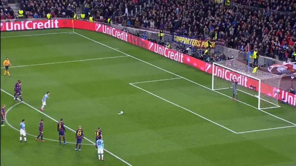 Penalty miss - Aguero 78 (18.3.2015)