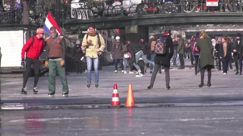 Bruslení v Amsterdamu (AP)