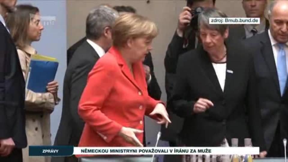Německou ministryni považovali v Íránu za muže