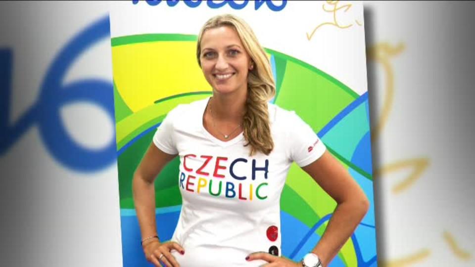 TOP STAR 22.7.2016 - Petra Kvitová oblečení na Olympiádu