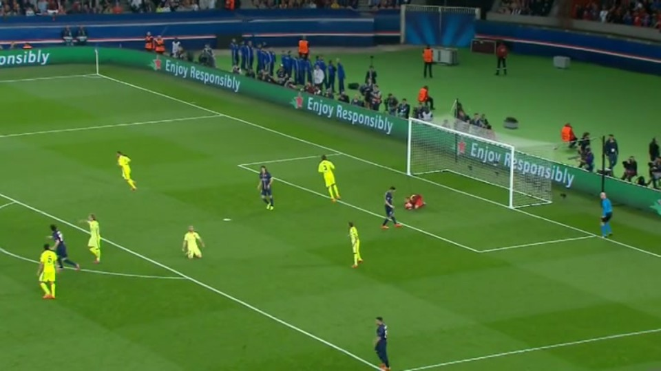 Sestřih zápasu - Paris v Barcelona (15.4.2015)